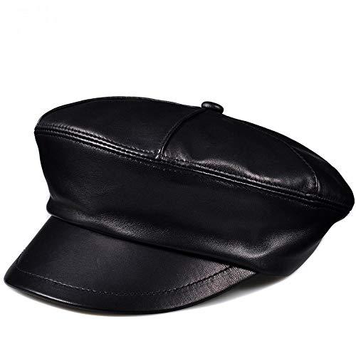 Ying xinguang Damen breiter Krempe Beret Cap Vintage Leder Newsboy Hut für Damen ! (Größe : XXXXL) -