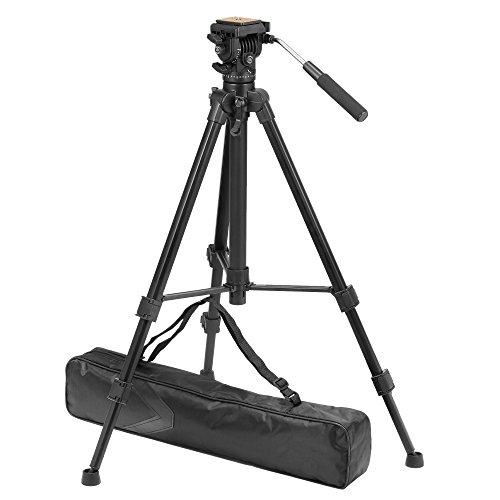ZOMEi Testa Professionale Fluido Treppiede per Canon Nikon Sony DSLR Videocamera Videocamera a 360 gradi Rotazione Ripresa Regolabile Altezza