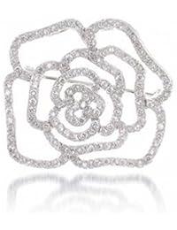 Bling Jewelry stud FlorCZ Pin Plata Esterlina broche