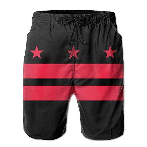 LarissaHi Washington DC State Flag Männer Badehose Boardshorts Strandshorts M -