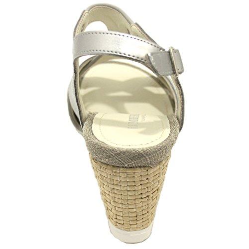 Bûcheron Sw31006 002 M66 Sandale Compensée Femme Argent