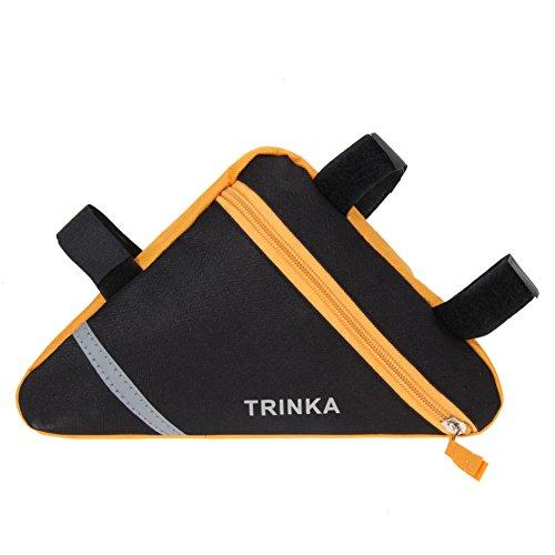 Demiawaking universell Rahmentasche, Wasserdicht Rahmendreieck mit der Größe 19 x 18 x 4,5 cm Orange
