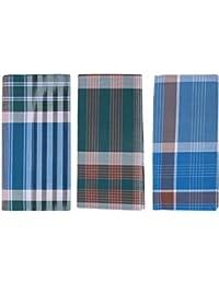 SHIPPY SKVT- SANGU MARK 100% Cotton Mens Lungi -Pack of 3(Free Size, Multicolor)