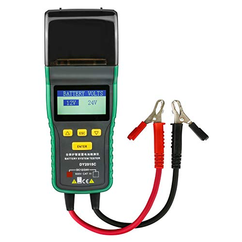 12V / 24V-Batterietester, Blei-Säure-Batterie-Analysator CCA 100-1700 SOH 0-100{58f3f6f42e194490c74f3efa6657e4cb3b2fcfe04b28c1163c9f7d11c1a29fae} Integriertes Drucker-Diagnosewerkzeug mit Koffer
