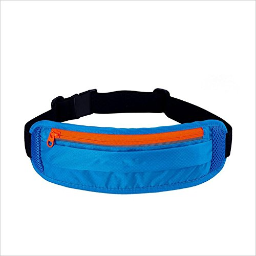 ChenBing Lauftasche mit elastischem Bund Outdoor Sports Multifunktionale Tasche Leichte Lauf Atmungsaktive Wasserdichte Gürtel Atmungsaktive Radtasche (Farbe : Blau)