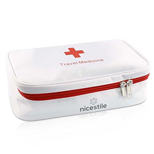 NICESTILE Medikamententasche | Leere Medizintasche nach Wunsch zu gestalten | Tasche auch perfekt als Reiseapotheke | Praktische Größe für Medikamente, Erste-Hilfe-Produkte, Vitamine u. v. m.