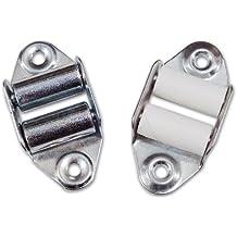 Polea para persiana vertical con 2pz rodillos metálicos de hierro