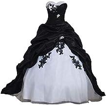 10cd30a97f7dfd Tianshikeer Hochzeitskleid Rose Hochzeitskleid Weiß Rot Hochzeitskleier  Herzausschnitt A Linie