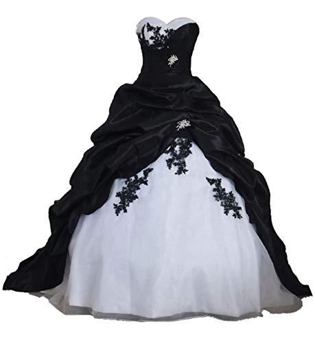 Tianshikeer Hochzeitskleid Rose Hochzeitskleid Weiß Rot Hochzeitskleier Herzausschnitt A Linie