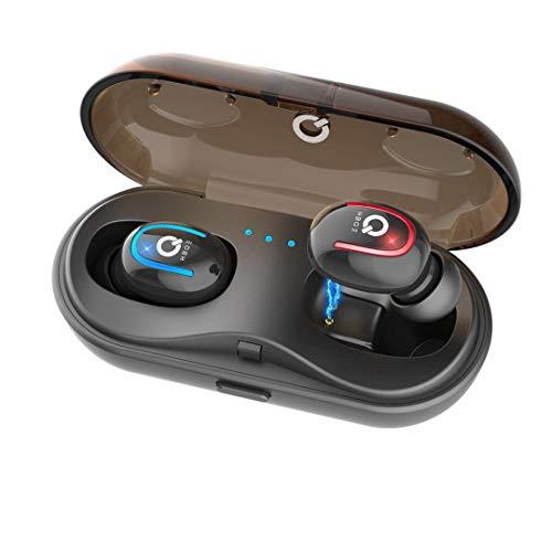 Leynatic auricolari bluetooth 5.0 con scatola di ricarica, auricolari bluetooth sport impermeabili,cuffie bluetooth senza fili 3d stereo con design in-ear, compatibile per gare sportive