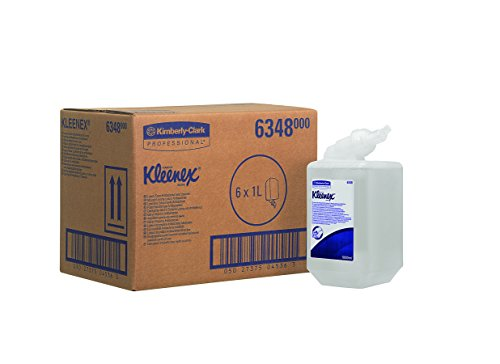 kleenex-6348-luxury-foam-antibacterial-hand-cleanser-1-l-cassette-clear-pack-of-6
