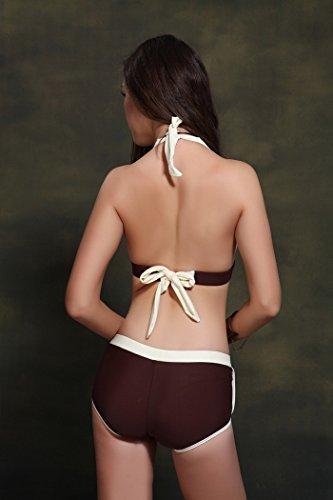 Buluke Frauen Sport Style zwei Stücke Bikini White