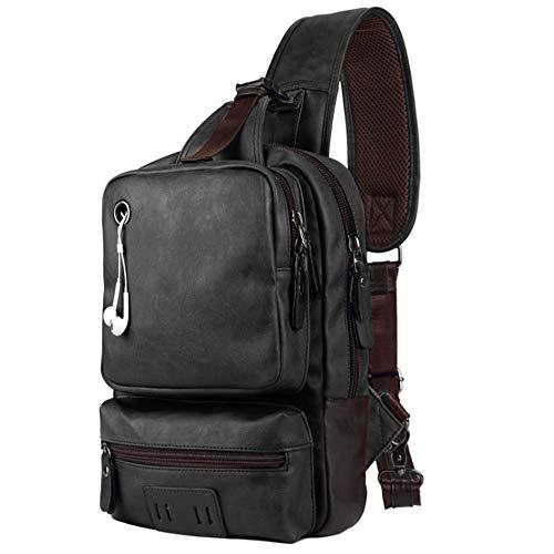 più amato eec43 2c068 SPAHER Borsello Tracolla Uomo Pelle Sling bag Monospalla ...