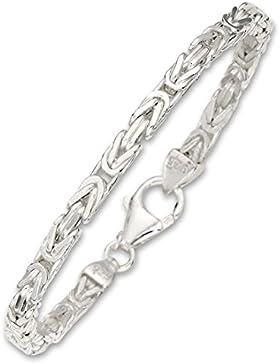 COZMOS Feine Silberkette Byzantiner Königskette Halskette Kette Collier Armband Fußkette 925 Silber Sterling 2mm...