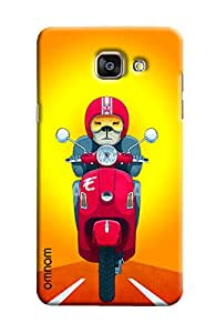 Omnam Dog driving Scooter back cover For Samsung Galaxy A5 2016 (A510)