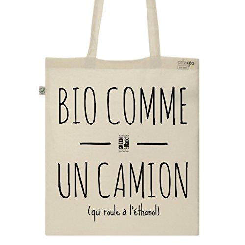Tote Bag Imprimé Ecru - Toile en coton bio - BIO comme un camion