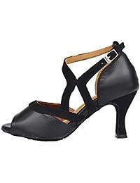 b0f29fca LL Mujer Boca De Pescado Punta Abierta Zapatos De Baile Latino Correa De  Tobillo