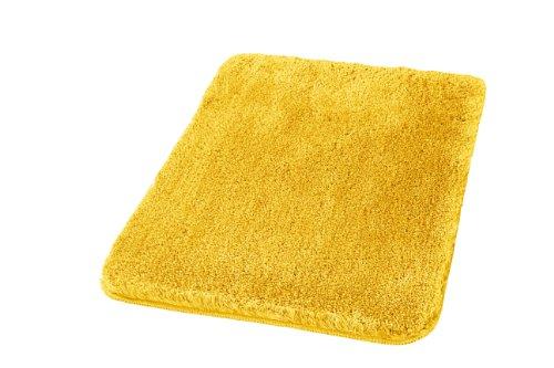 Kleine Wolke 5405569360 Badteppich Relax 60 x 100 cm goldgelb (Kleiner Gelber Teppich)