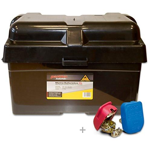 Panther Marine Batteriebox XL Batteriekasten Akkubox Batteriebehälter Behälter inkl. Batterieklemmen