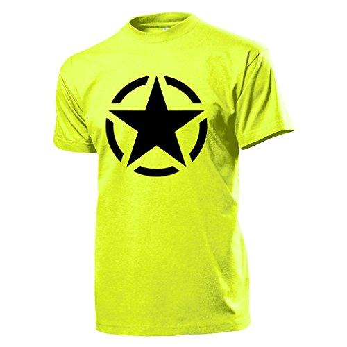 Alliierte England Usa Stern Allied Star Militär Armee Amerikaner Gi's G.I -T Shirt gelb #5613 (Gelben Armee T-shirt Militär)