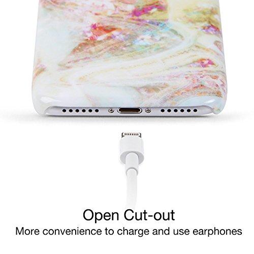 iPhone 7 Hülle, CiuTek iPhone 7 IML Technologie Marmor Muster Protective Hart PC Hülle Case Cover Anti Staub Kratzer Handyhülle für iPhone 7 Farbe 4