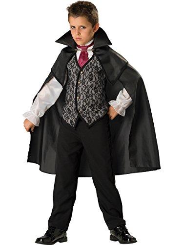 (Klassischer Vampir Kinderkostüm - Größe: 08 / 122-128cm)