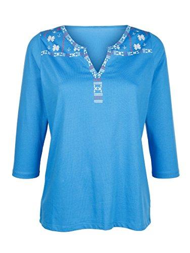 Damen Shirt mit Ethnodruck by Laura Kent blue 18-4140 tcx p