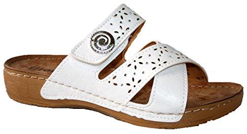 ladies-gezer-slip-on-peep-toe-mule-lightweight-soft-comfy-mule-sandals-uk6-white-button