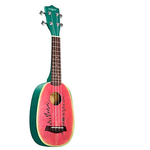 Mkulele Ukulele 23 Zoll Uklele Ukulele Wassermelone Kind Anfänger Hawaii Niedliche kleine Gitarre