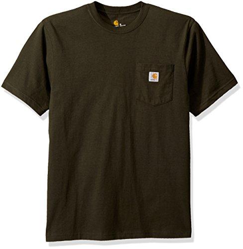Carhartt Herren Work Wear Pocket Short-Sleeve Arbeits-T-Shirt, Peat, X-Groß -
