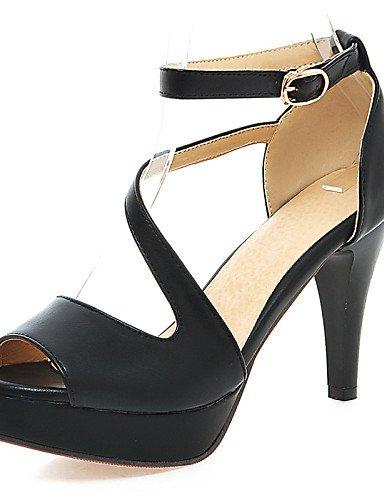 UWSZZ IL Sandali eleganti comfort Scarpe Donna-Sandali-Matrimonio / Formale / Serata e festa-Spuntate / Plateau-A cono-Finta pelle-Nero / Blu / Rosa / Bianco / Beige Blue