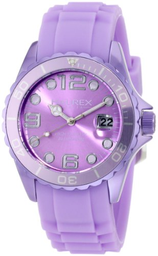 Haurex Italy Women's 1K374DLL Ink Lilac Rubber Band Aluminum Watch
