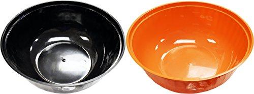 rvieren Schalen. 30,5cm Durchmesser-Große Schüssel tief-BPA-frei-Perfekt für Candy, Partys, köstlichen Gerichten, Events, und mehr. Halloween L schwarz/orange ()