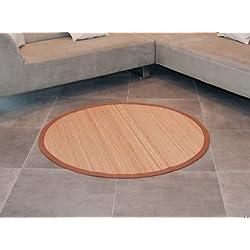 Flashtrade JMC033 - Alfombra redonda de bambú, diámetro: 120, 160 o 200 cm