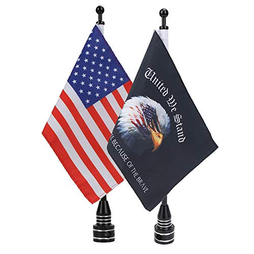E-Most Verstellbar 6'x 9' American Flagge + Fahnenstange Mount & 15,2x 22,9cm Eagle American Flagge + Pole Mount, für Harley Davidson Honda Goldwing CB VTX CBR Yamaha (Harley Davidson 5x)
