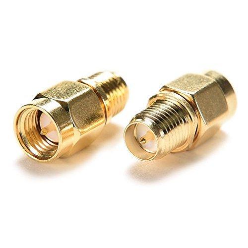 Rp-sma Stecker Antenne (BlueBeach® 2 Stück Adapter Konverter SMA Stecker (Pin) zu RP-SMA Buchse (Pin) für Antenne Koaxial)