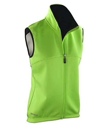 Spiro Airflow Active Veste de cyclisme sans manches pour homme vert - Neon Green / Black