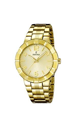 Festina F16713/2 – Reloj de pulsera mujer, acero inoxidable chapado, color dorado
