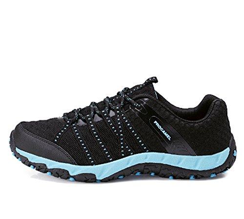 Scarpe da trekking da uomo Scarpe da trekking basse da trekking Scarpe da corsa da corsa Anti-skid Air Shock Absorbing Fitness Palestra Sport Outdoor Shoes Black