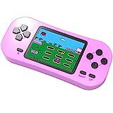 Bornkid Console de Jeu Portable pour Enfants Adultes 218 Jeux éducatifs Rétro Classiques Préinstallés Écran de 2,5 Pouces Rechargeable Système de Jeu Rose