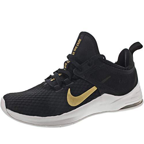 Nike Damen WMNS Air Max Bella Tr 2 Fitnessschuhe, Mehrfarbig (Black/Metallic Gold/Vast Grey 000), 41 EU (Schuhe Gold-metallic-nike)