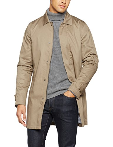 ONLY & SONS Herren Mantel Onsneuer Coat Noos, Beige (Lead Gray), Large