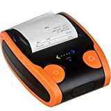 OMEE Thermodrucker 58MM Wireless Bluetooth Thermo-Empfangsdrucker Mobiler POS-Drucker für Android/IOS,Orange für OMEE Thermodrucker 58MM Wireless Bluetooth Thermo-Empfangsdrucker Mobiler POS-Drucker für Android/IOS,Orange