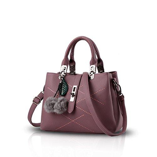 Bilis, Borsa a mano donna, Pink (rosa) - Bilis-008 Red-brown