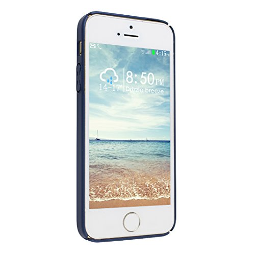Étui Pour iPhone 5 5S SE, Asnlove Matte Dur Coque PC Plastique Cover Ultra Slim Couleur Pure Cas Fashion Housse Pour iPhone 5/5S/SE - Rouge Bleu