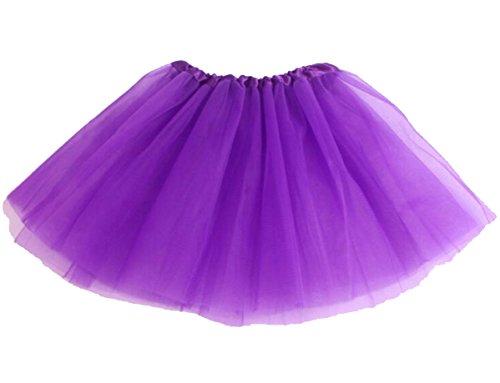 KINDER 3 lagig Tütü Tüllrock Petticoat Ballettrock Ballett Tutu Rock tanzen NEU (lila) (Lila Tutu)