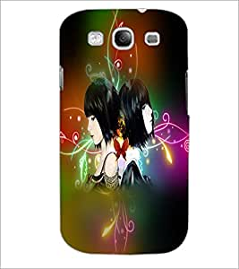 PrintDhaba Twins D-2983 Back Case Cover for SAMSUNG GALAXY S3 (Multi-Coloured)