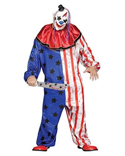 Horror Zirkus Clown Kostüm-Anzug Plus Size mit Clown-Maske für Halloween XL