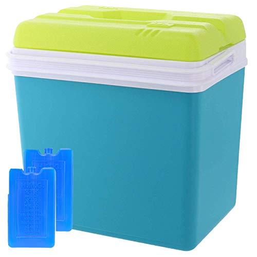 Smartweb Kühlbox 24 Liter inklusive 2X Kühlakkus Kühltasche Isolierbox Warmhaltebox Thermobox Kühlschrank Cooler -