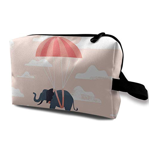 ic Bags Elephant Parachute Travel Portable Makeup Bag Zipper Wallet Hangbag ()